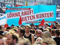 Demonstration gegen steigende Mieten in Berlin