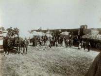 Krautverladung Bahnhof um 1910
