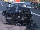 Unfall mit Folgen: Anhänger stürzt von Autobahnbrücke (Vorschaubild)