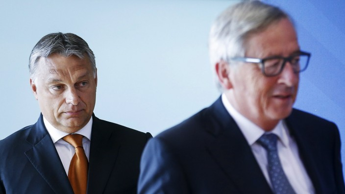 Jean-Claude Juncker und Viktor Orban