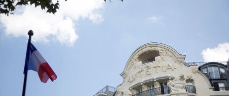Outside view of the more than century-old Hotel Lutetia in Paris