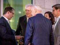 Die CSU-Politiker Alexander Dobrindt, Horst Seehofer, Edmund Stoiber und Andreas Scheuer