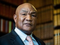 George Foreman at the Oxford Union, Britain - 24 May 2016