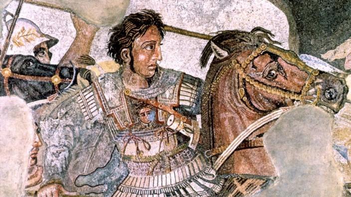 Alexander der Grosse - Koenig von Makedonien - in der Schlacht bei Issos