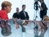 Angela Merkel auf der Sommerpressekonferenz