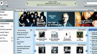 Persönliche Daten bei iTunes