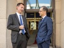 Außenminister Heiko Maas empfängt den britischen Amtskollegen Jeremy Hunt