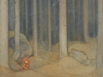 Humpe in the woods by John Bauer 1913