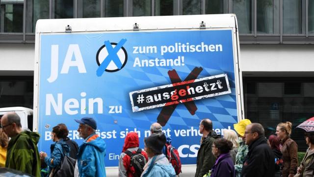 Demonstration '#ausgehetzt · Gemeinsam gegen die Politik der An