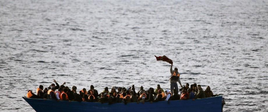 Flüchtlinge im Boot
