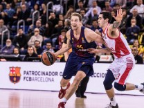 BARCELONA SPAIN MARCH 23 Petteri Koponen 25 of FC Barcelona Barca Lassa in action during the Turk; Basketball