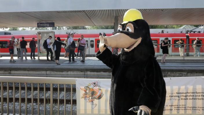 Schienenersatzverkehr bei der S-Bahn in Freising, 2018