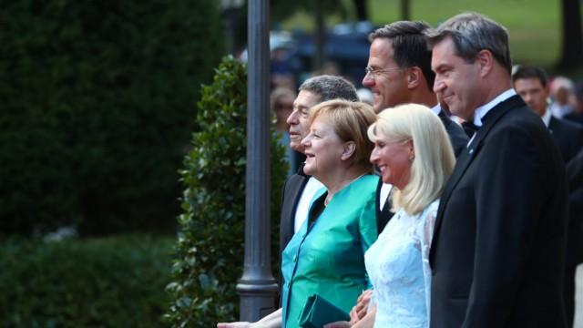 Festspiele Bayreuth 2018 Markus Söder Angela Merkel