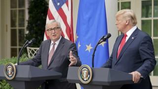 Handelsstreit: Donald Trump und Jean-Claude Juncker erzielen 2018 eine Einigung.