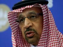 FILE PHOTO: Saudi Energy Minister al-Falih attends a session of the St. Petersburg International Economic Forum