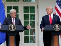 Jean-Claude Juncker und US-Präsident Donald Trump