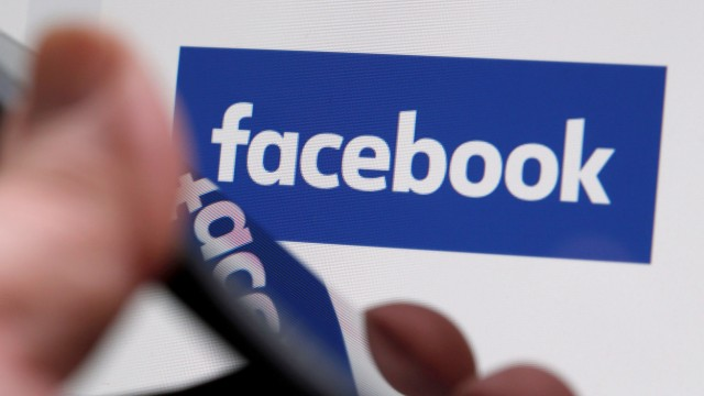FILE PHOTO: The Facebook logo is displayed on their website in an illustration photo taken in Bordeaux