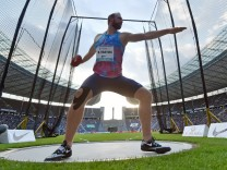 Diskuswerfer Robert Harting im Berliner Olympiastadion