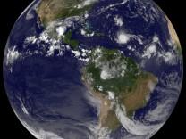 Die Erde aus dem Weltraum fotografiert