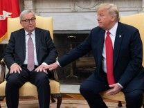 US President Donald Trump hosts EU Commission president Jean-Claude Juncker amid trade standoff