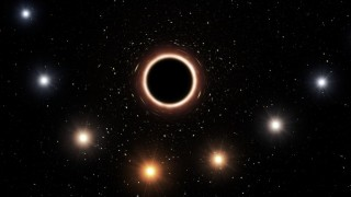 Artist's impression of S2 passing supermassive black hole at centre of Milky Wa