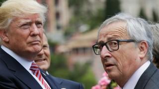 Donald Trump und Jean-Claude Juncker 2017 in Italien