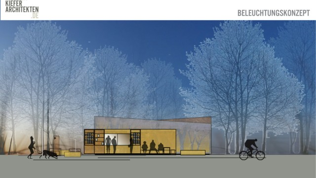 Dießen Kiosk-Entwurf in den Seeanlagen Foto: Kiefer/oh