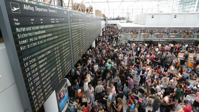 Flughafen München Sicherheitspanne