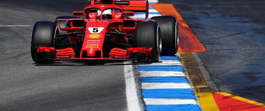 Sebastian Vettel im Ferrari 2018 in Hockenheim