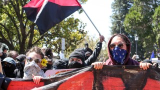 Right-wing group protest in San Francisco