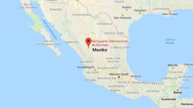 Mexiko Durango Karte