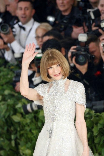 FILE PHOTO: Vogue Editor-in-Chief Anna Wintour arrives at the Met Gala in the Manhattan borough of New York