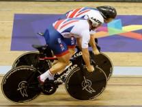 Das britische Bahnrad-Team beim Training
