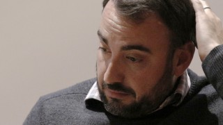 Alex Stamos, Chief Security Officer for Facebook, speaks at the NYU Center for Cyber Security in New York