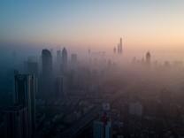 Blick auf Shanghai