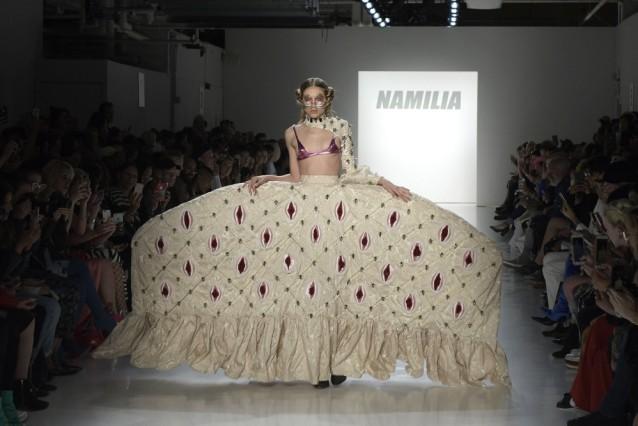 September 9 2017 New York New York U S Model on the runway for NAMILIA Spring Summer 2018 co