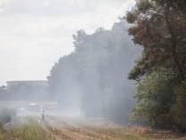 Waldbrand am Niederrhein