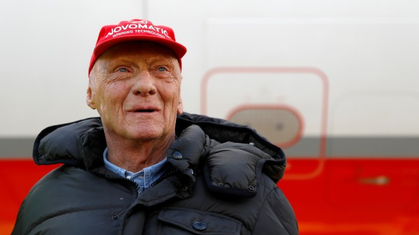 FILE PHOTO: FILE PHOTO: Lauda poses at the airport in Duesseldorf