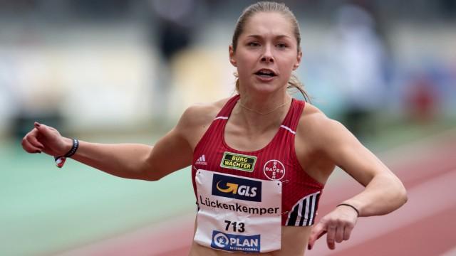 Gina Lückenkemper bei den Deutschen Leichtathletik-Meisterschaften 2018 in Nürnberg