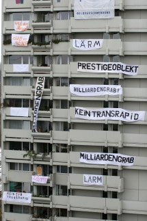 Anwohner protestieren gegen Transrapid, 2005