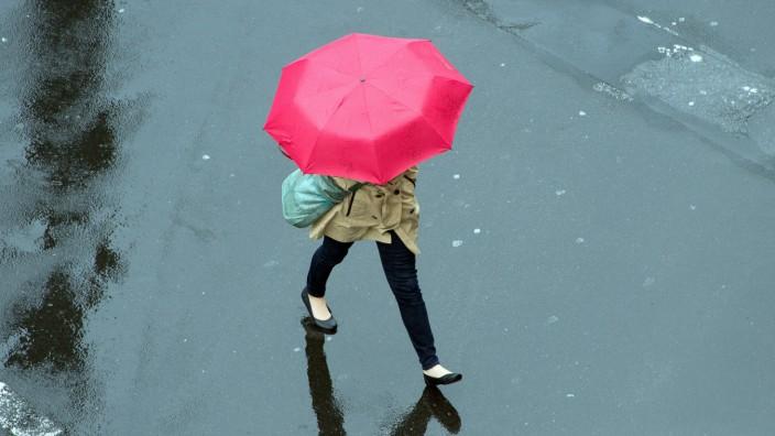 Regenwetter in Düsseldorf