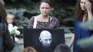 Trauerfeier ermordeter russischer Journalisten