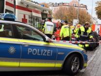Polizeieinsatz nach Messerattacke eines psychisch Kranken in München, 2017