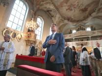 Markus Söder in Wallfahrtskirche