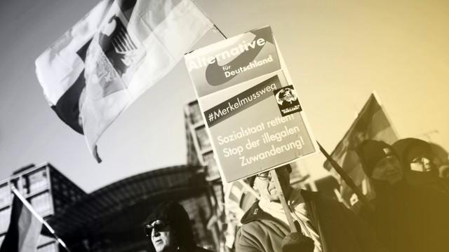 Wir fuer Deutschland Rechte Demo DEU Deutschland Germany Berlin 03 03 2018 Demonstranten mit P