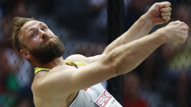 Diskuswerfer Robert Harting bei der Leichtathletik-EM 2018 in Berlin