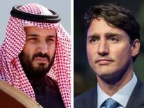 Der saudische Kronprinz Mohammed bin Salman und Kanadas Premier Justin Trudeau