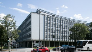 Gebäude Oskar von Miller Ring 18, da zieht das Goethe-Institut hin.