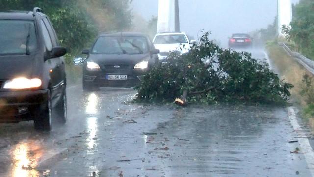 Unwetter bei Mannheim