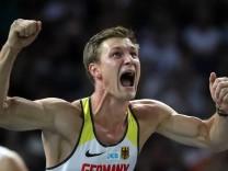 Speerwerfer Thomas Röhler bei der Leichtathletik-EM 2018 in Berlin